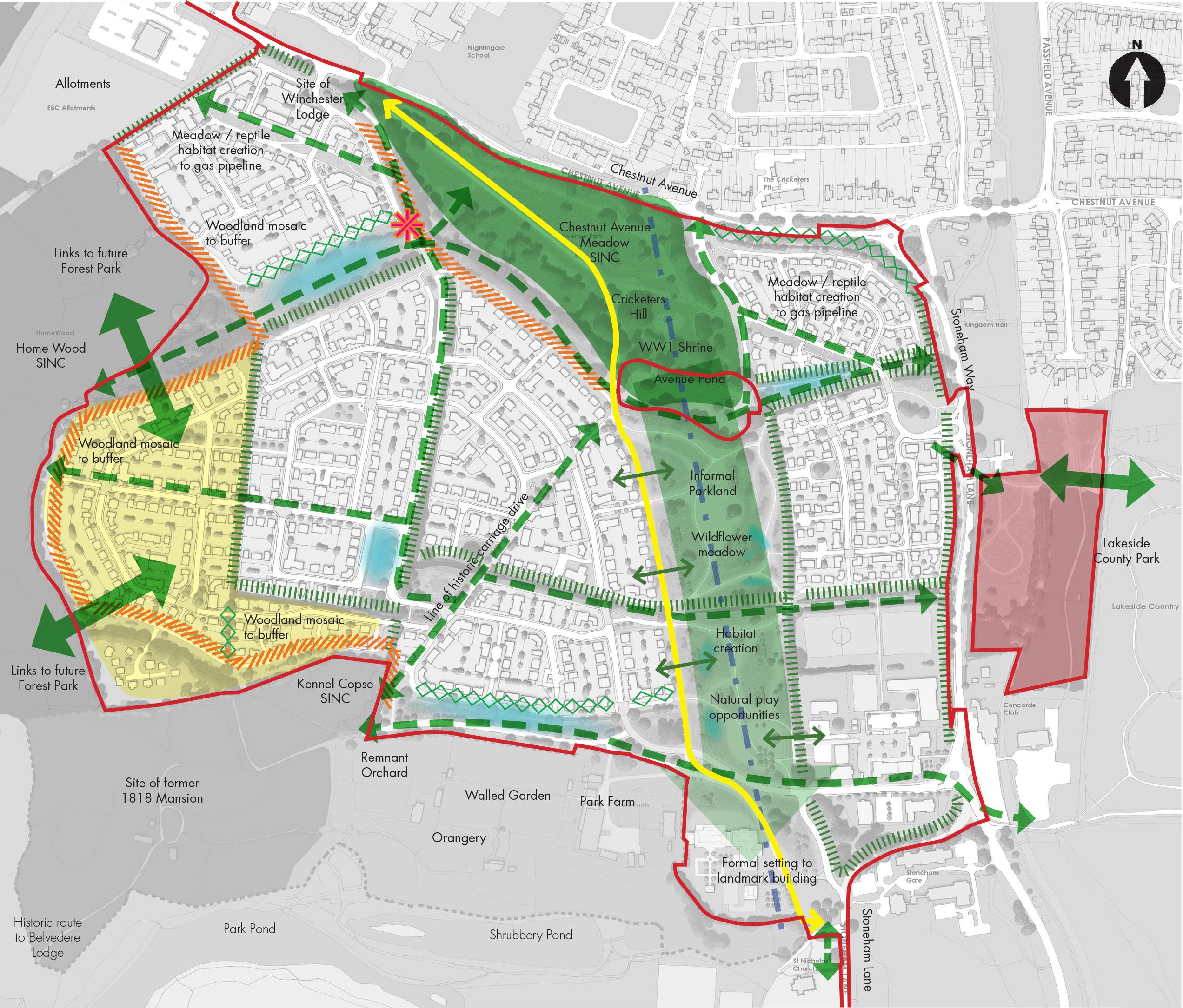 North Stoneham Park: creative conservation - Influence