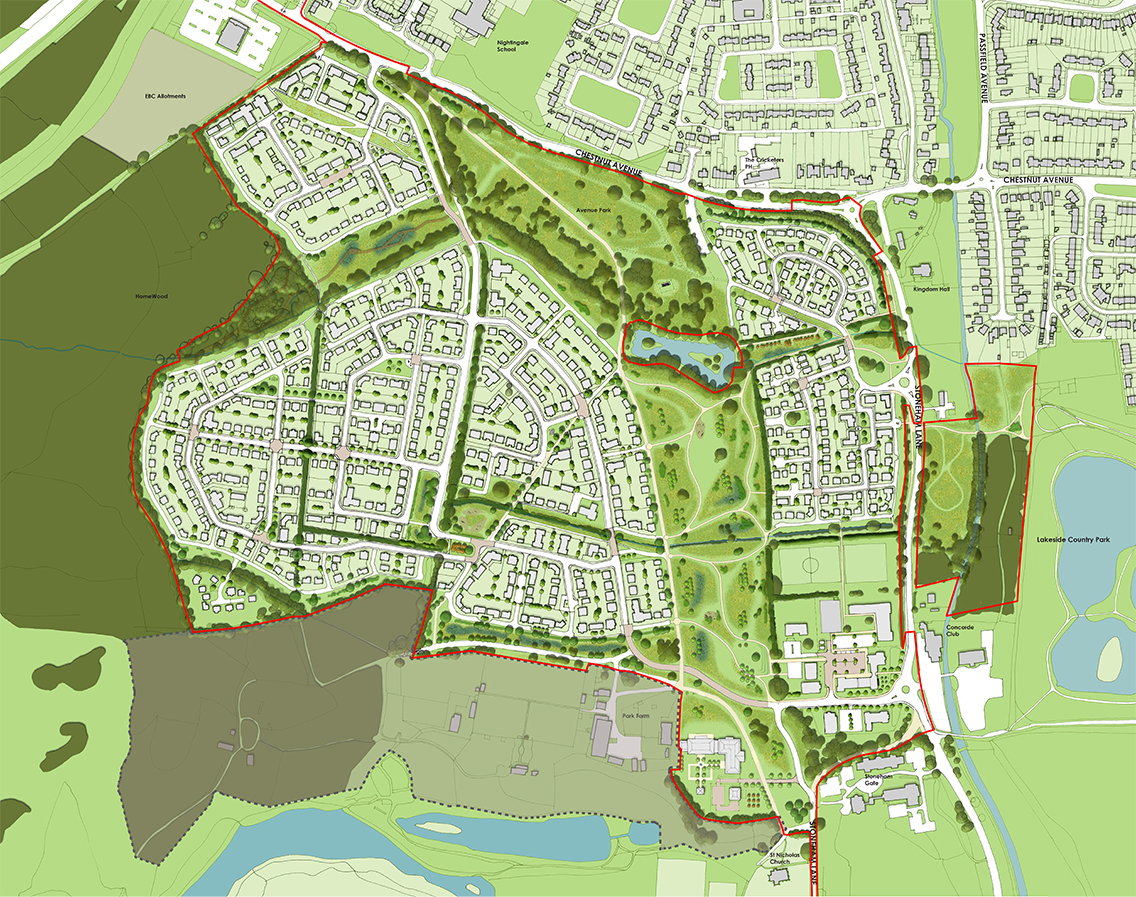 North Stoneham 1135-03A-Detailed masterplan (N)