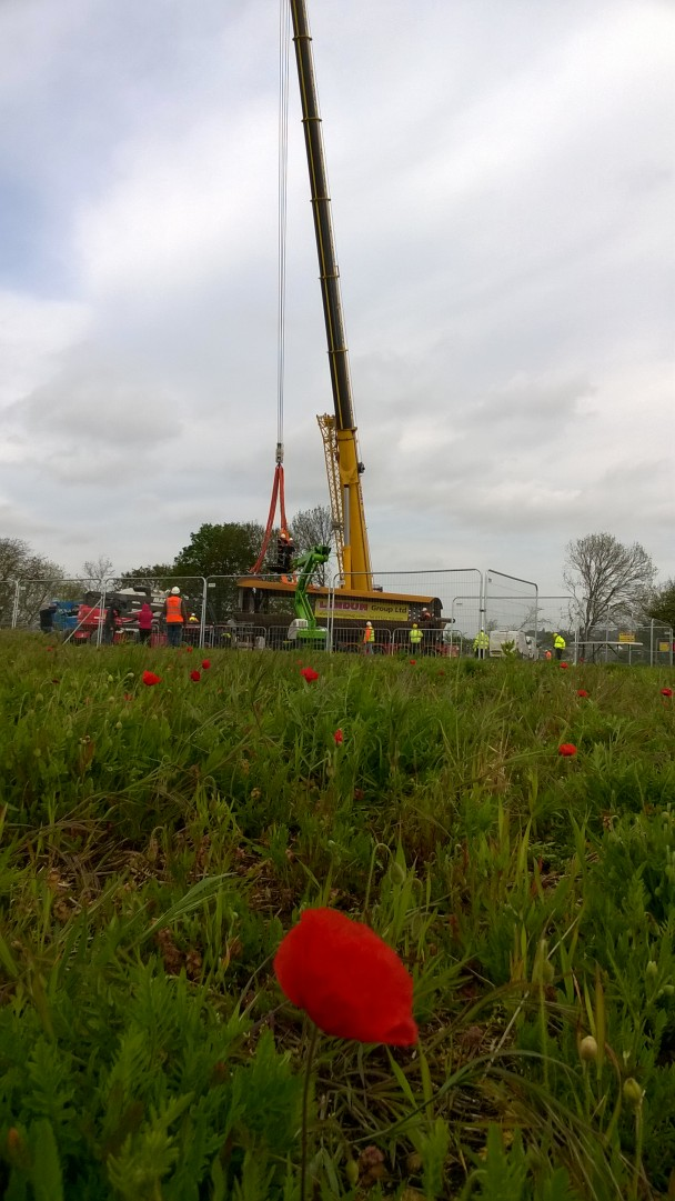 10th May 2015-The Memorial Spire going up