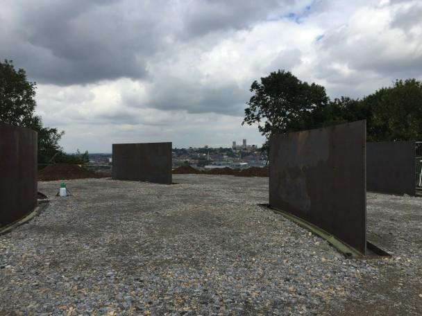September 2015- The Memorial walls in construction