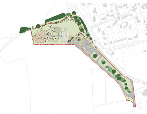 International Bomber Command Centre Proposed site plan