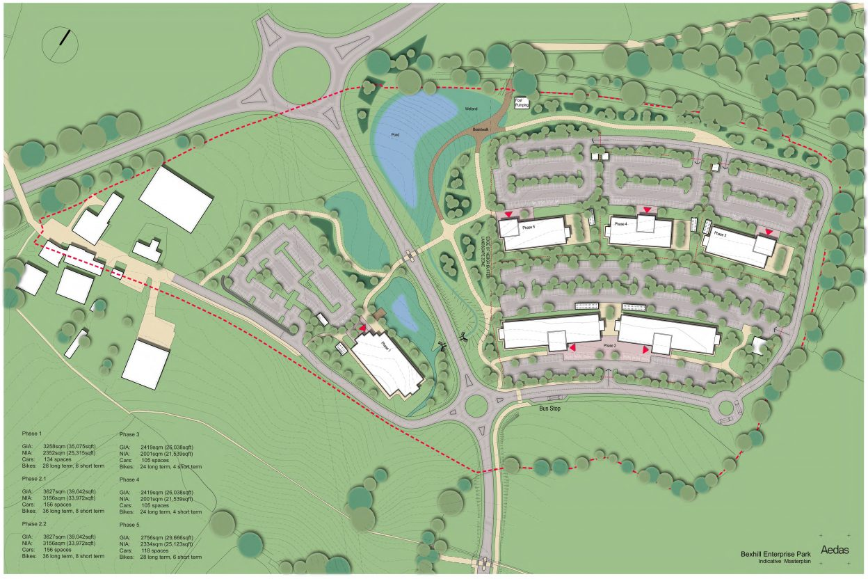 Bexhill Enterprise Park - Indicative Masterplan Colour
